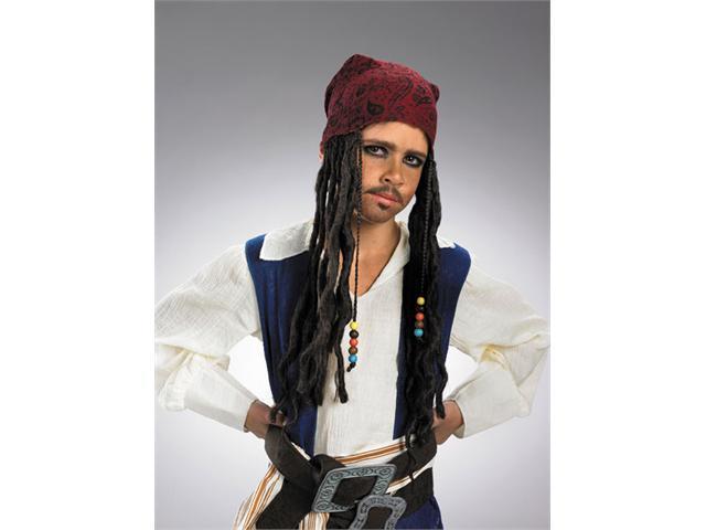 Jack Sparow Headband with Hair for Child