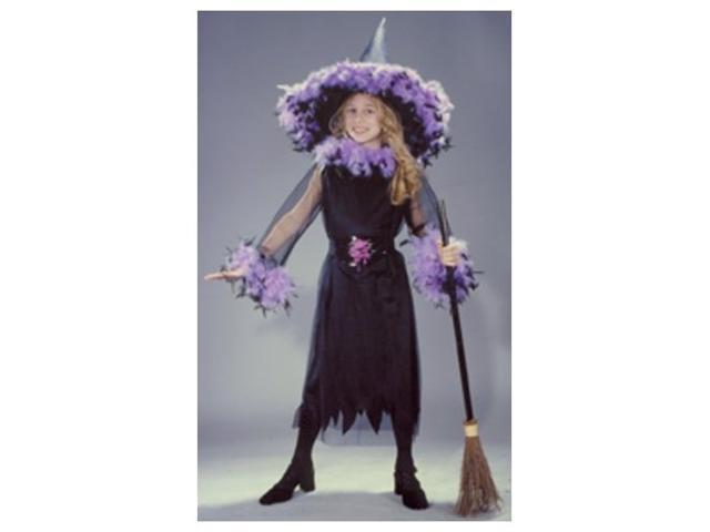 Costumes For All Occasions FW8762BKLG Feather Witch Blk Child Lrg