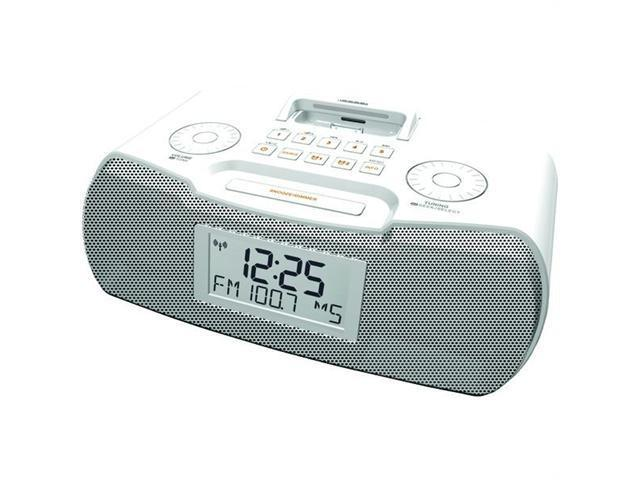 Sangean Rcr-10 - White Am/Fm Atomic Clock Radio With Ipod Dock - White