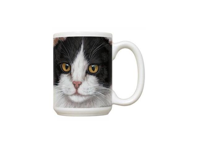 Fiddlers Elbow FEC71 Black & White Cat 15 oz Mug