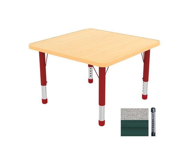Early Childhood Resource ELR-14116-GGN-C 30 in. Gray Square Adjustable Activity Table with Green Chunky Legs