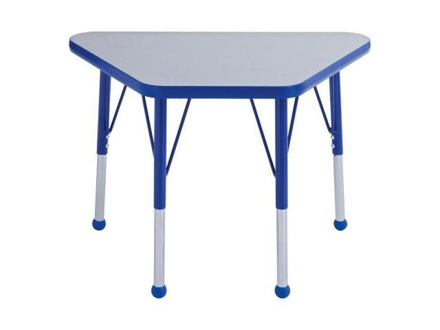Early Childhood Resource ELR-14118-GBL-TB 18 in. x 30 in. Gray Adjustable Learning Table with Blue Edge and Toddler Leg Ball Glides
