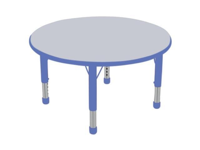 Early Childhood Resource ELR-14114-GBL-C 36 in. Gray Round Adjustable Activity Table with Blue Chunky Leg