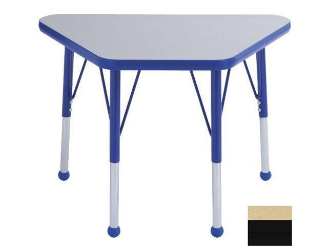 Early Childhood Resource ELR-14118-MBBK-TB 18 in. x 30 in. Maple Adjustable Learning Table with Black Edge and Toddler Leg Ball Glides
