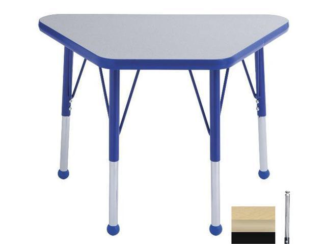 Early Childhood Resource ELR-14118-MMBK-SS 18 in. x 30 in. Maple Adjustable Learning Table with Maple Edge and Black Standard Leg Nylon Swivel Glides