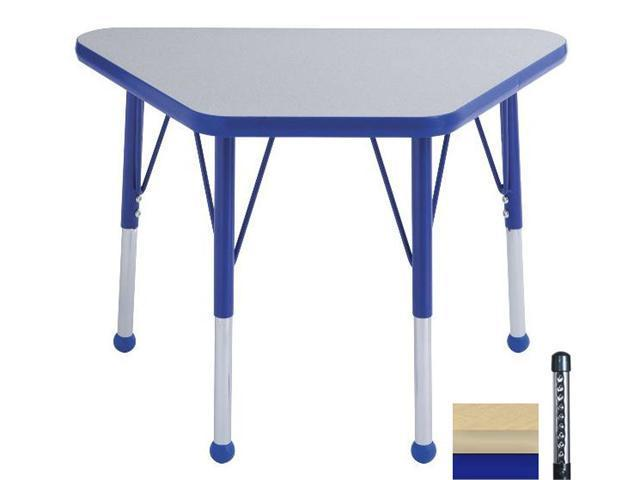 Early Childhood Resource ELR-14118-MMBL-C 18 in. x 30 in. Maple Adjustable Learning Table with Maple Edge and Blue Chunky Leg