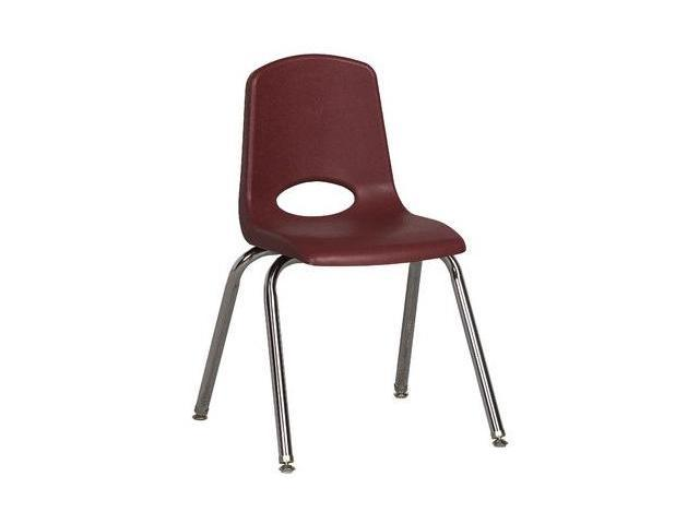 Early Childhood Resource ELR-0195-BYG 16 in. School Stack Chair with Chrome Swivel Glide Legs - Burdundy