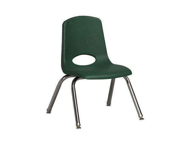 Early Childhood Resource ELR-0193-HGG 12 in. School Stack Chair with Chrome Swivell Glide Legs - Hunter