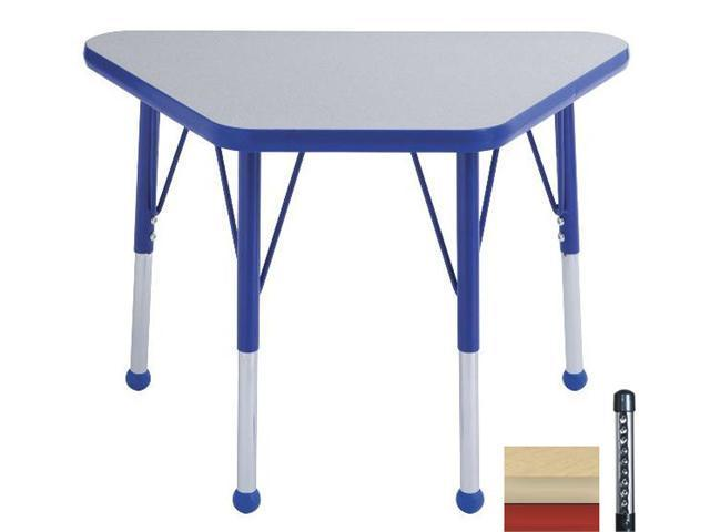 Early Childhood Resource ELR-14118-MMRD-C 18 in. x 30 in. Maple Adjustable Learning Table with Maple Edge and Red Chunky Leg