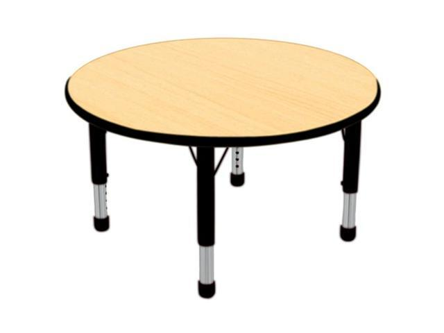 Early Childhood Resource ELR-14114-MBBK-C 36 in. Maple Round Adjustable Activity Table with Black Chunky Leg