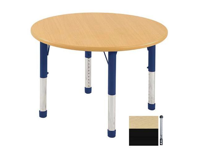 Early Childhood Resource ELR-14114-MBBK-SB 36 in. Maple Round Adjustable Activity Table with Black Edge and Black Standard Leg Ball Glides