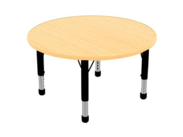 Early Childhood Resource ELR-14114-MMBK-C 36 in. Maple Round Adjustable Activity Table with Black Chunky Leg