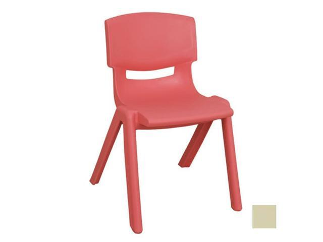 Early Childhood Resource ELR-0557-SD Plastic Stack Chair - Desert Sand