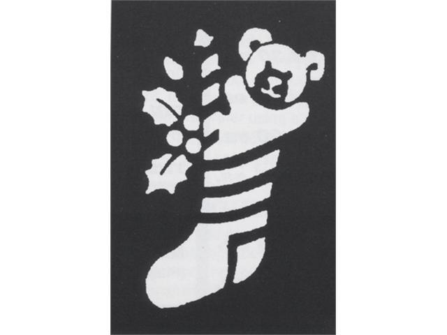 Costumes For All Occasions FP62 Stencil Stocking Bear Brass