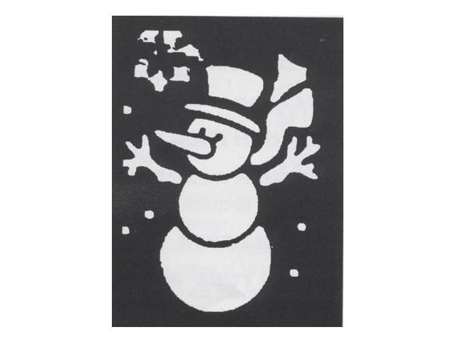 Costumes For All Occasions FP64 Stencil Snowman Brass