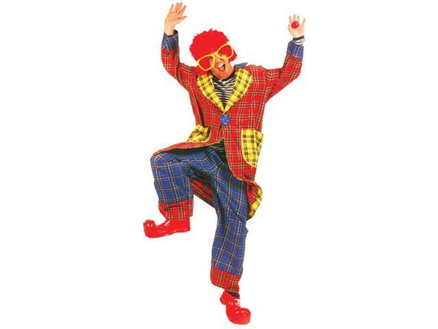 Costumes For All Occasions Ff760635 Plaid Pickles Adult Clown