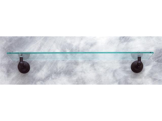 JVJHardware 24111 Liberty 22 in. Glass Shelf Concealed Screw - Oil Rubbed Bronze