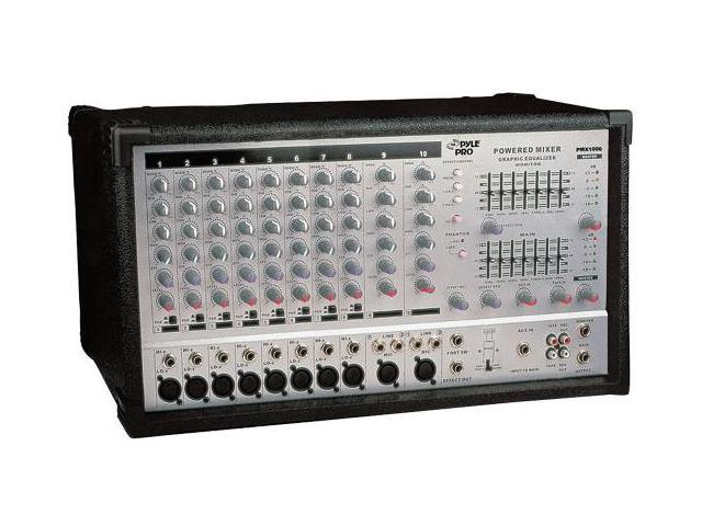 PylePro PMX1006 10 Channel 800 Watts Powered Stereo Mixer