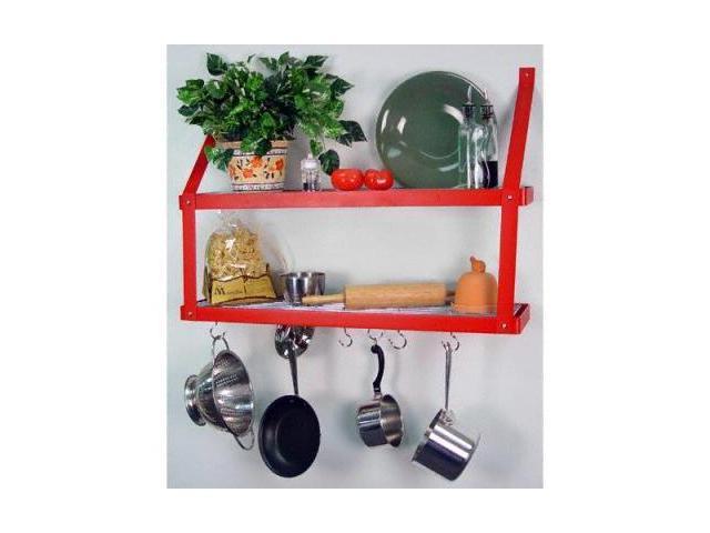 Rogar 8575 Double Bookshelf - Red/Chrome
