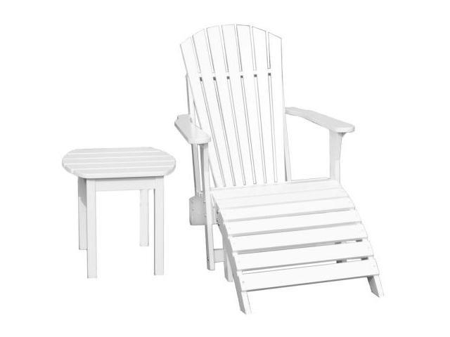 International Concepts K-51900-CTS-0 3-Piece Adirondack Lawn Set