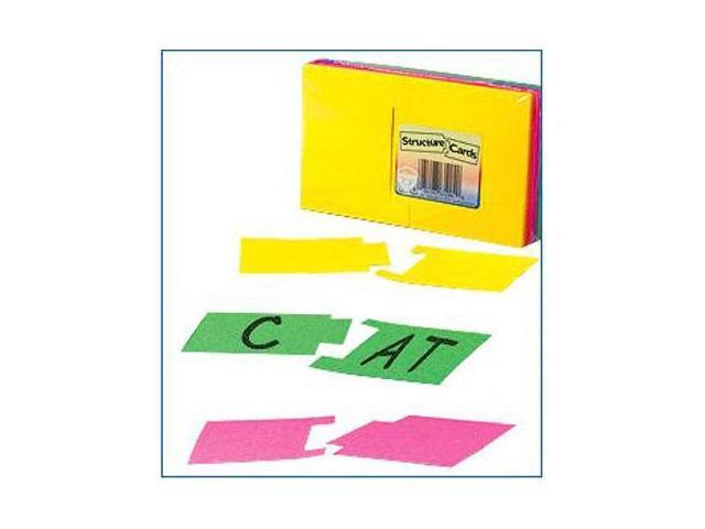 Hygloss Products  Inc. HYG43536 Structure Cards 3X5 36 Cards In 12 Colors