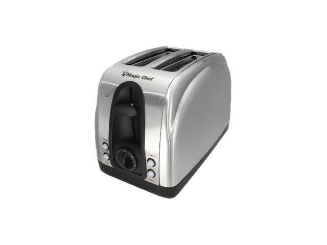 Magic Chef MCST2ST 2 Slice Wide Slot Toaster - StainlessSteel