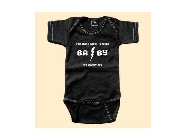 Rebel Ink Baby 307bo612 For Those About to Walk- 6-12 Month Black One Piece Undershirt