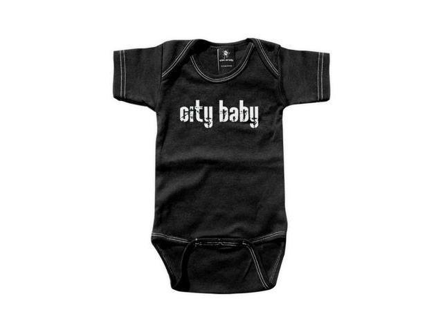 Rebel Ink Baby 353bo612 City Baby- 6-12 Month Black One Piece Undershirt