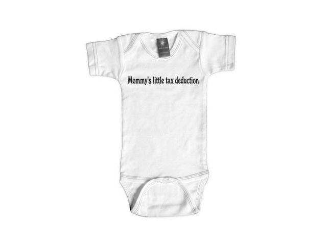 Rebel Ink Baby 367W612 Mommy's Little Tax Deduction- 6-12 Month White One Piece Undershirt