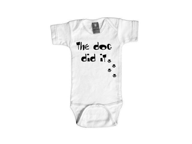 Rebel Ink Baby 357W1824 The Dog Did It- 18-24 Month White One Piece Undershirt