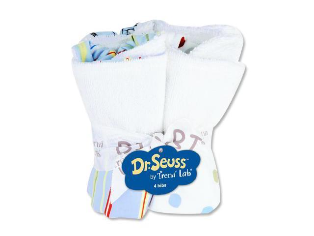 Trend-Lab 30302 Bouquet 4 Pack Bib- Dr. Seuss One Fish Two Fish