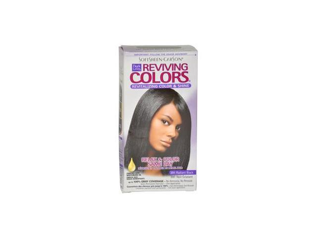 Dark and Lovely W-HC-1013 Reviving Colors no.391 Radiant Black by Dark and Lovely for Women - 1 Application Hair Color