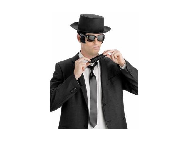 FunWorld 155173 Blues Brothers Fancy Dress Kit Hat  Glasses  Harmonica