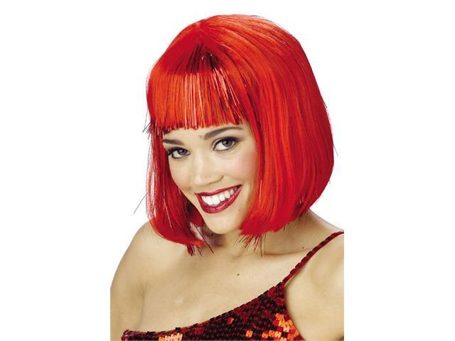 Costumes For All Occasions MR177048 Wig Red Shimmering Bob
