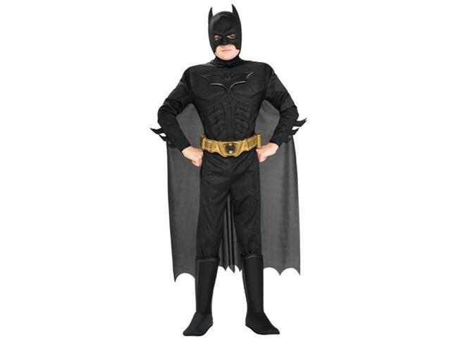 The Dark Knight Batman Deluxe Muscle Kids Costume