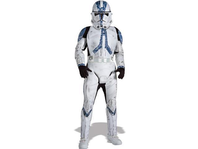 Rubies Costume Co 21069 Star Wars Clone Trooper Deluxe Child Costume Size Medium- Boys 8-10