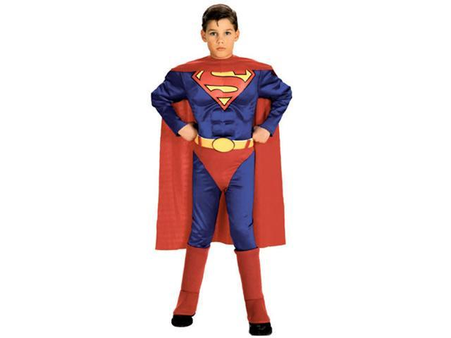 Rubie's Costume Co 6384 Superman with Chest Child Costume Size Small- Boys 4-6