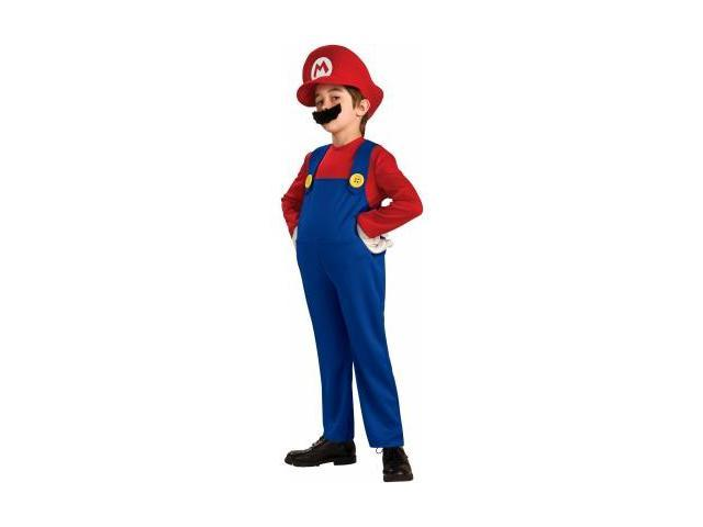 Rubies Costumes 186157 Super Mario Bros.- Mario Deluxe Toddler-Child Costume Size: Large (12/14)