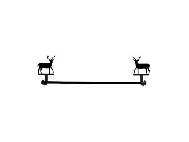 Village Wrought Iron TB-3-S Small Deer Towel Bar