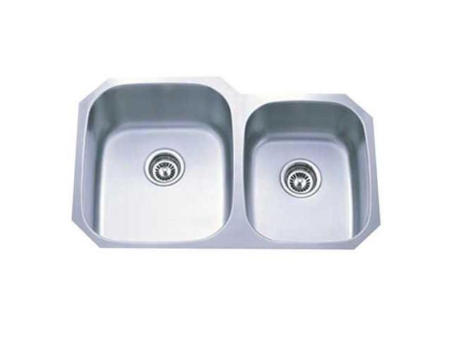 Kingston Brass GKUD3221P Gourmetier GKUD3221P Undermount Double Bowl Kitchen Sink, Brushed Nickel