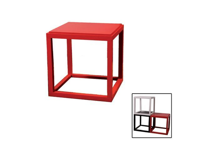 Ore International N3009-RED Stackable Red Cubic Table