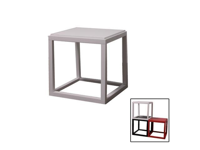 Ore International N3009-WH Stackable White Cubic Table