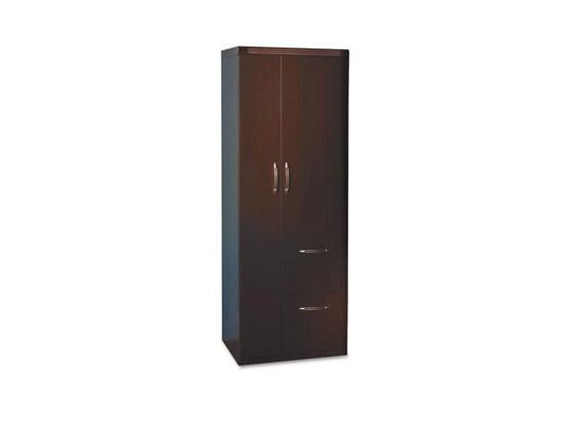 Mayline APST2LDC Aberdeen Personal Storage Tower- Box 2 Of 2- 24w x 24d x 64-3/4h- Chocolate