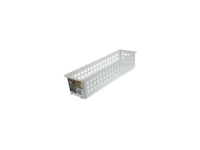 Rubbermaid Slide N Stack 20in. Stacking Basket 5580RDWHT