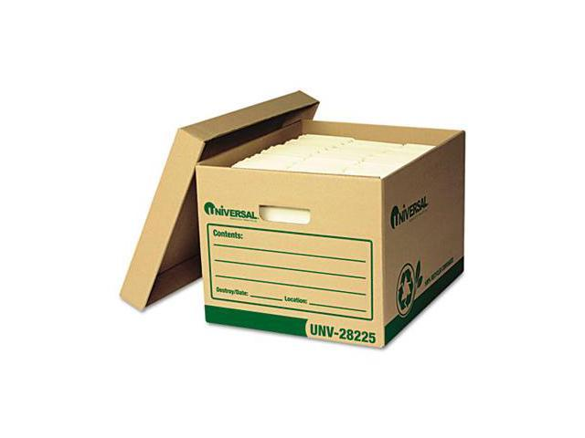 Universal 28225 Recycled Record Storage Box- Letter/Legal- 12 x 15 x 10- Kraft- 12/Carton