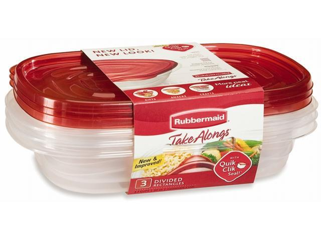 Rubbermaid 3 Piece Take Alongs Rectangular Containers  7F55RETCHIL