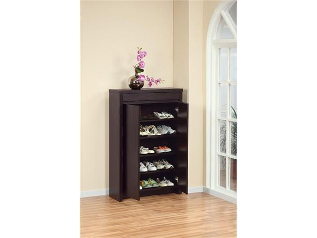 Enitial Lab 10340 Hess Studio 5-Shelf Shoe Cabinet in Red Cocoa Finish