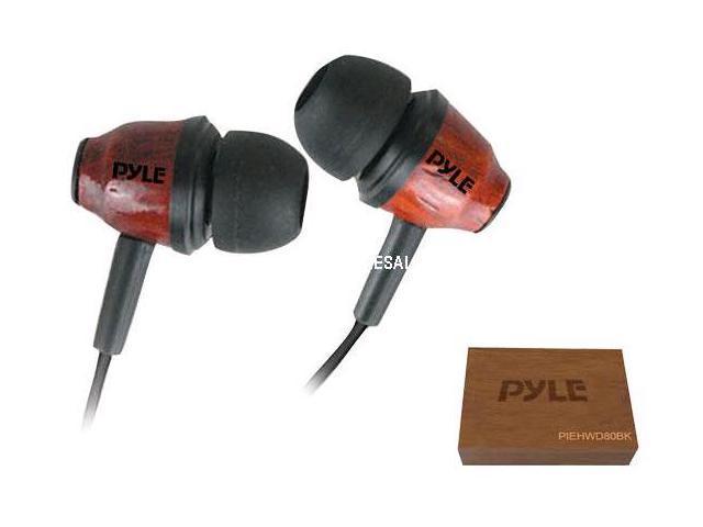 Pyle Inear Wood Headphone Dark - PIEHWD80DK