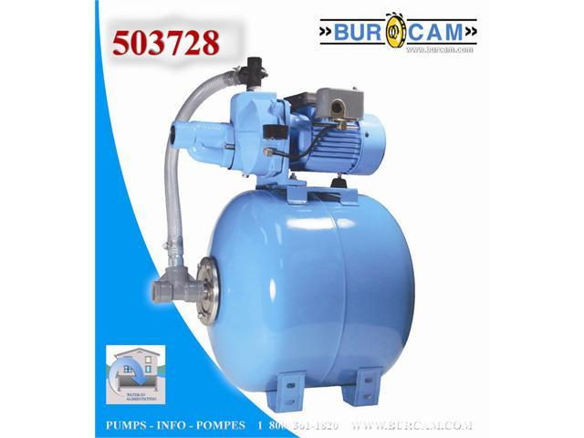 Bur-Cam Pumps 503728 Submersible Sump & Sewage - 60 Litre
