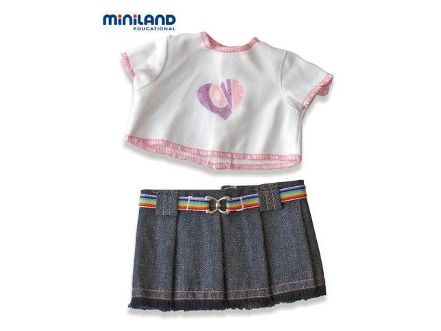 Miniland Educational 31692 Set--denim skirt-- 21cm- 8 .2 in.